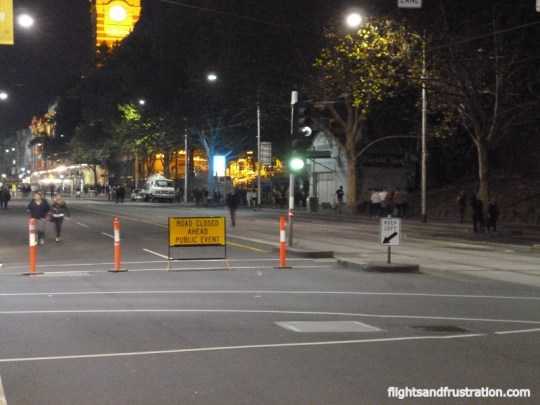 The CBD was closed to traffic for the white night Melbourne festival