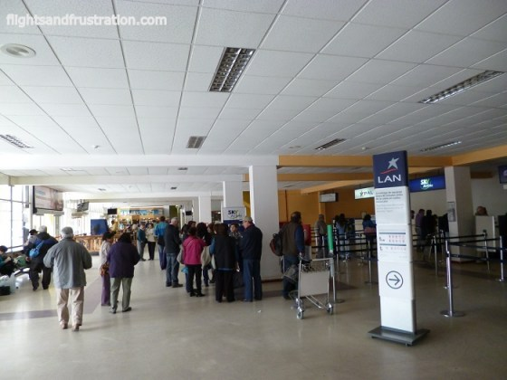 Check in gates at Antofagasta Airport