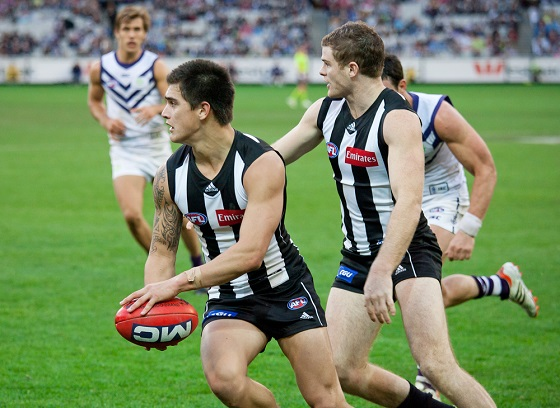 Collingwood v Freemantle in Australian Rules Football