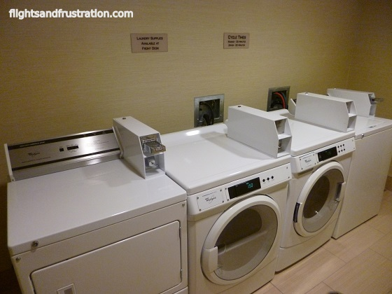Laundry room at the Spring Hill Suites Latrobe