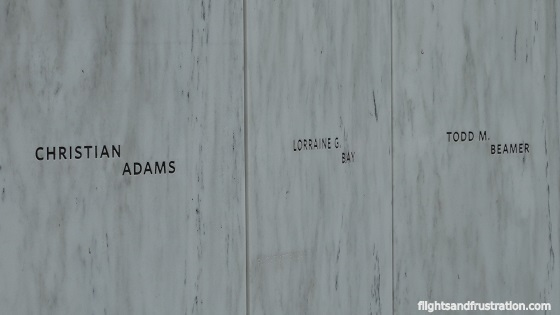 Names of some of the passengers on Flight 93