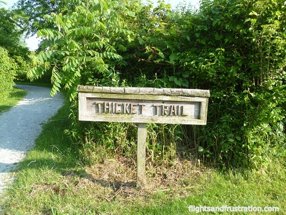 The Thicket Trail is 1762 feet long and leads to an observation deck