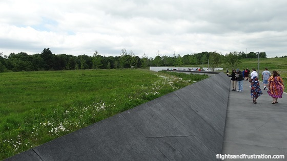 The field to the left is the crash site of United Flight 93 in Pennsylvania
