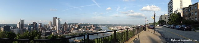 Panoramic view of Pittsburgh from Mt Washington