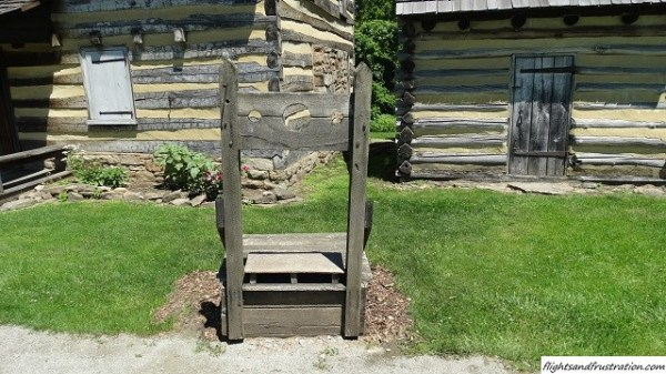 The stocks at Hanna's Town PA