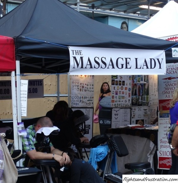 Who would like a massage