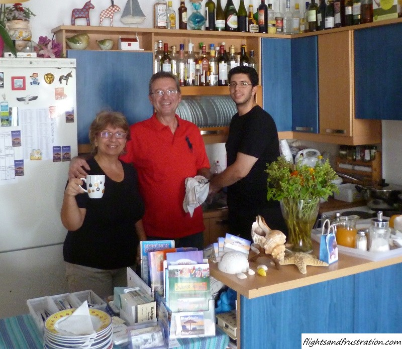 A warm welcome from Mina, Kosmas and Miko of Mina Studio, Mykonos