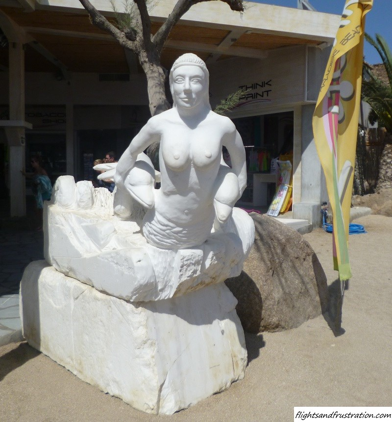 Even the statues go topless in Paradise