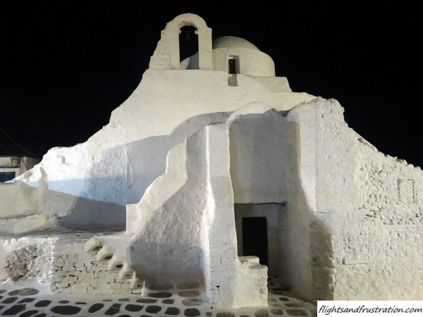 This white building complimented Mykonos Town