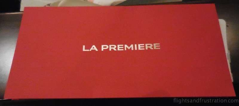 La Premiere red envelope air france first class review