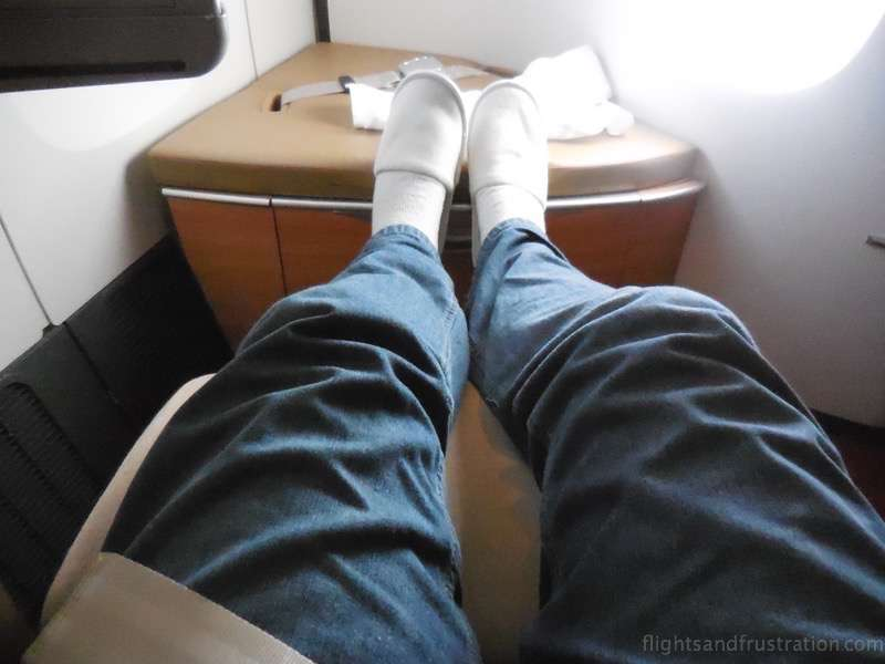 Lots of room to put my feet up air france first class review