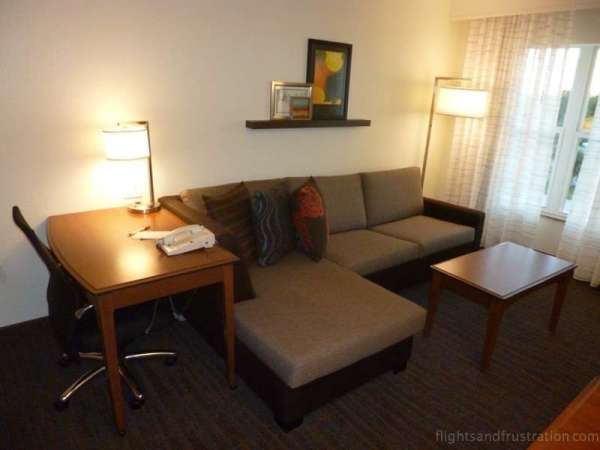 Lounge and work area at the Residence Inn by Marriott best hotels in daytona beach