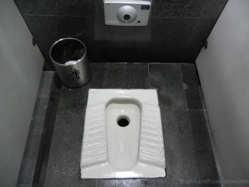 Squat toilet part of the customs of china