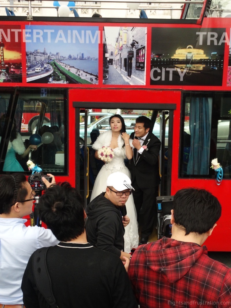 Found at the bund in Shanghai - a Chinese wedding party