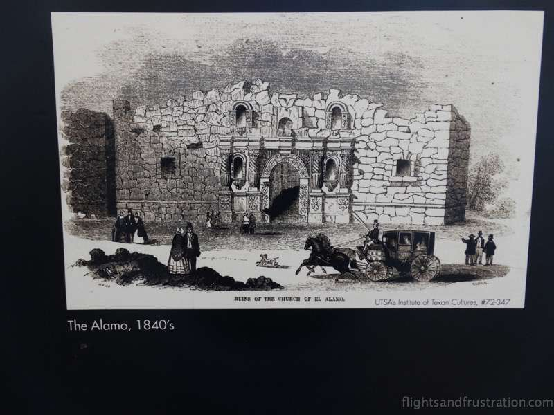 Depiction of The Alamo San Antonio Texas in the 1840s