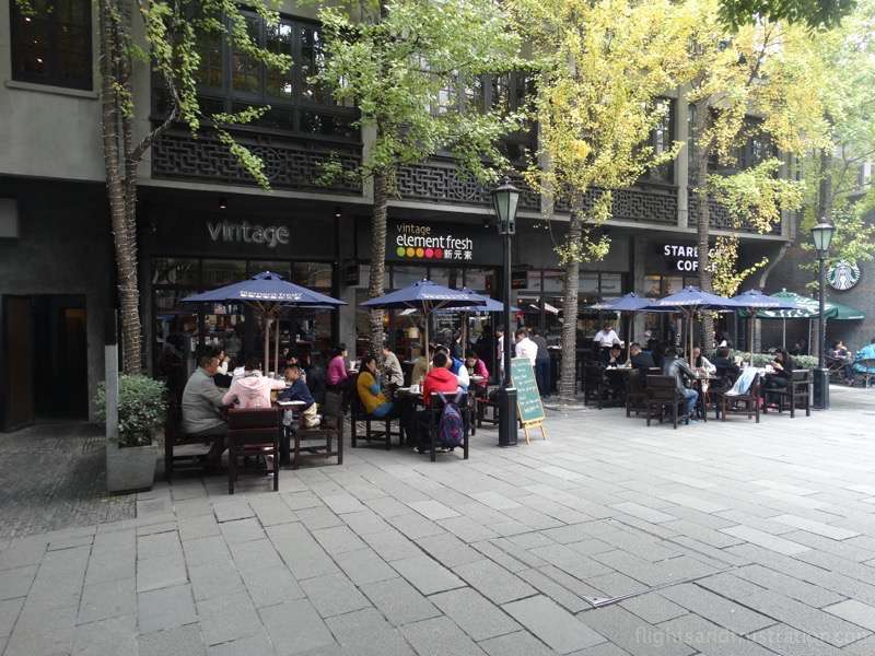 Enjoying life al fresco in Xin Tian Di Shanghai