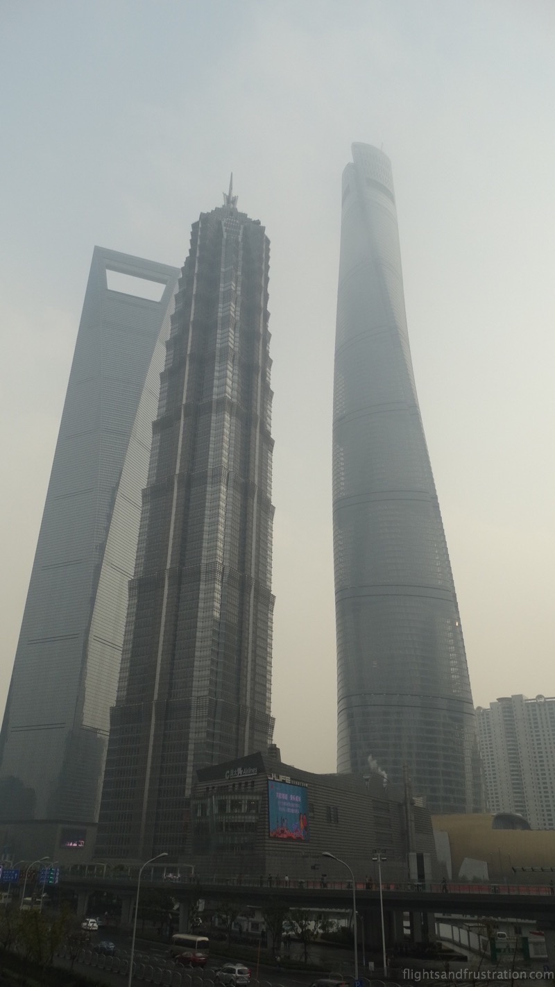 Shanghai World Financial Center, Jin Mao Tower and the Shanghai Tower