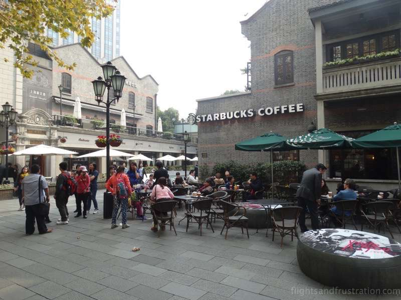 Starbucks has been in Xin Tian Di Shanghai for many years
