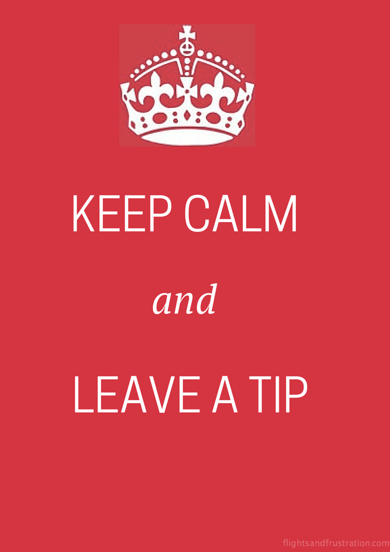 Keep calm and leave a tip for tipping in America
