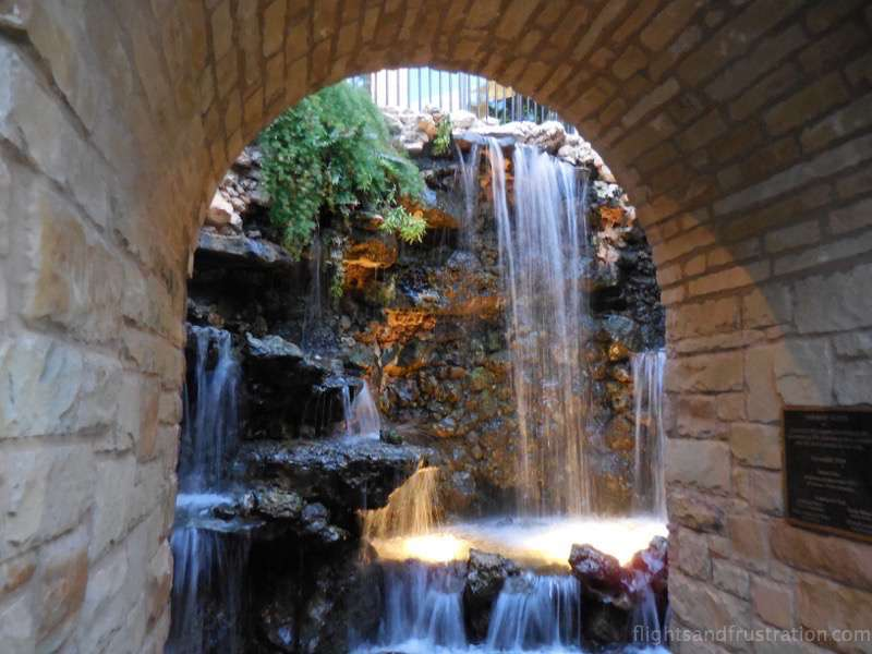 One of the man made water features for the riverwalk san antonio tx
