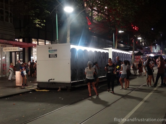 Toilets at the White Night Melbourne 2015 event