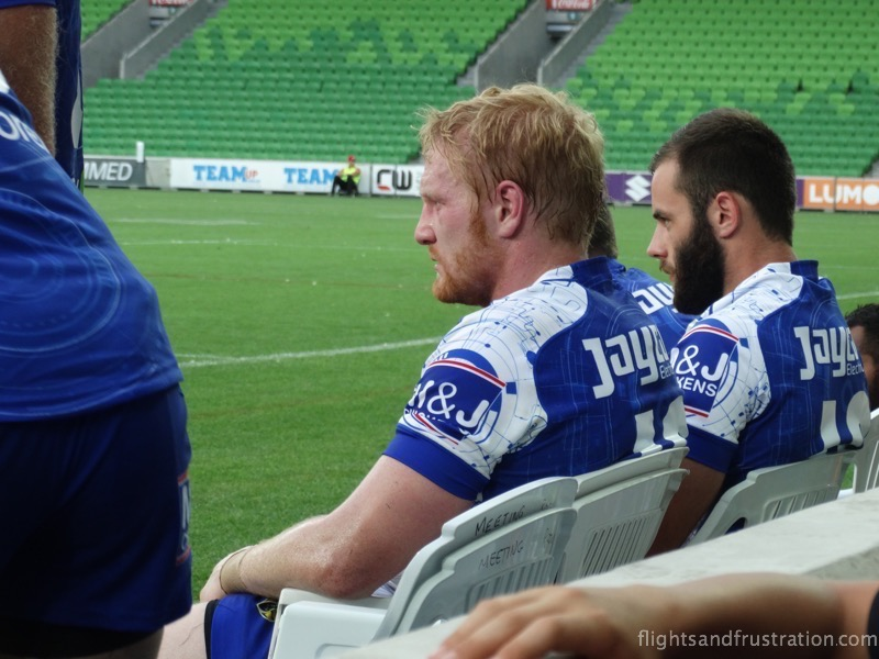 English player James Graham formerly of St Helens has a breather