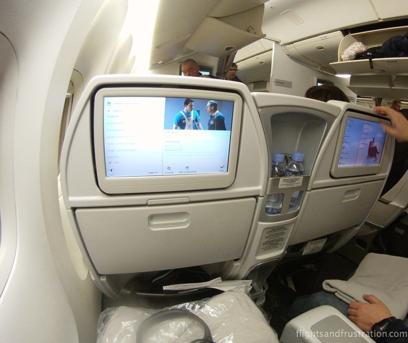 premium economy with air france On demand entertainment screen