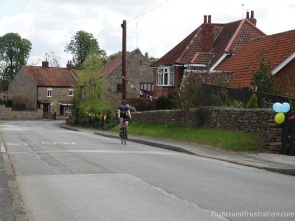 An amateur cyclist takes the route for a trial run
