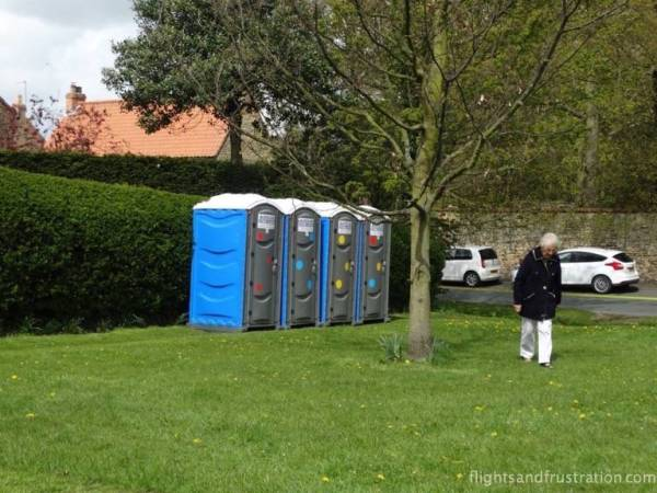 Portaloos at the ready