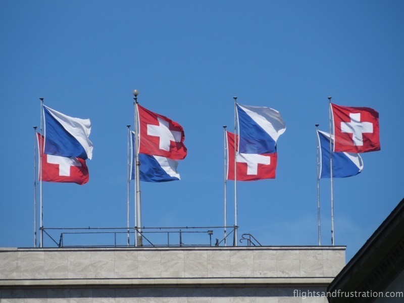 Flags of Zurich and Switzerland - switzerland facts