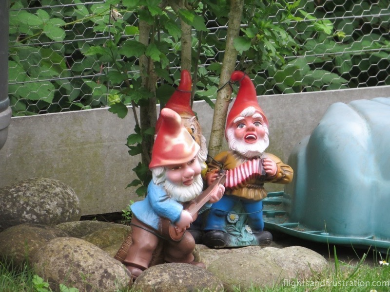 Gnomes in Switzerland seen on our swiss holiday