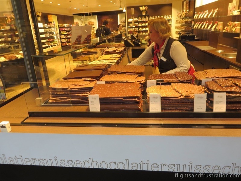Swiss chocolate shop