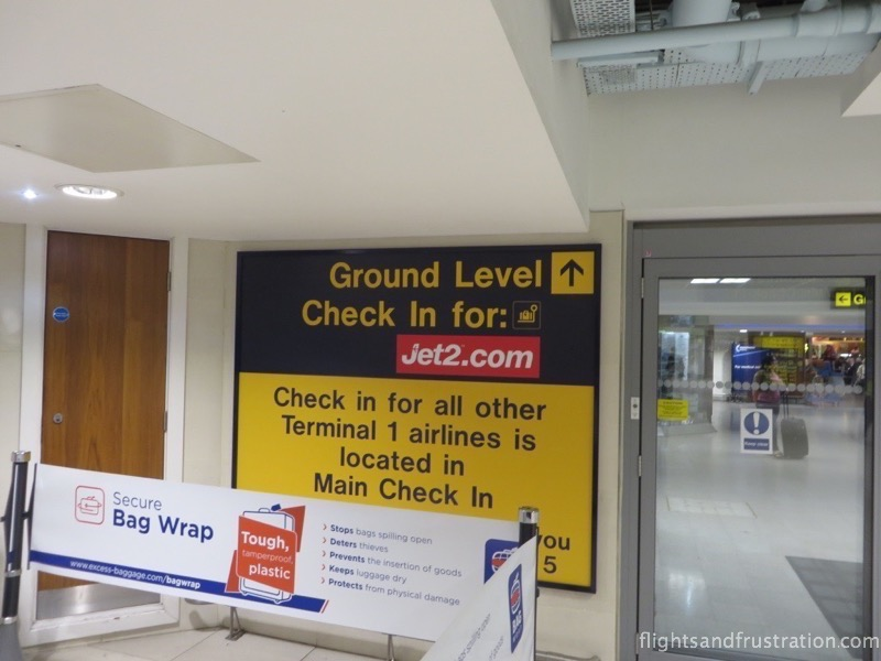 Jet2.com flights have their own check in area at Manchester Airport