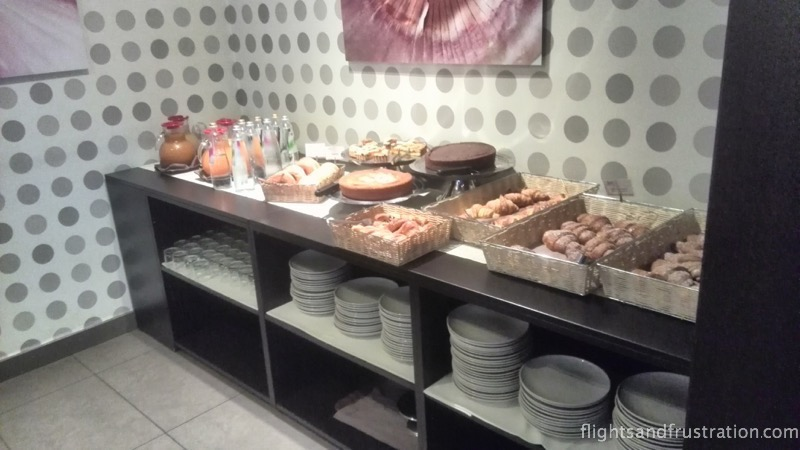 Lots of bread and pastries at the Max Hotel breakfast buffet