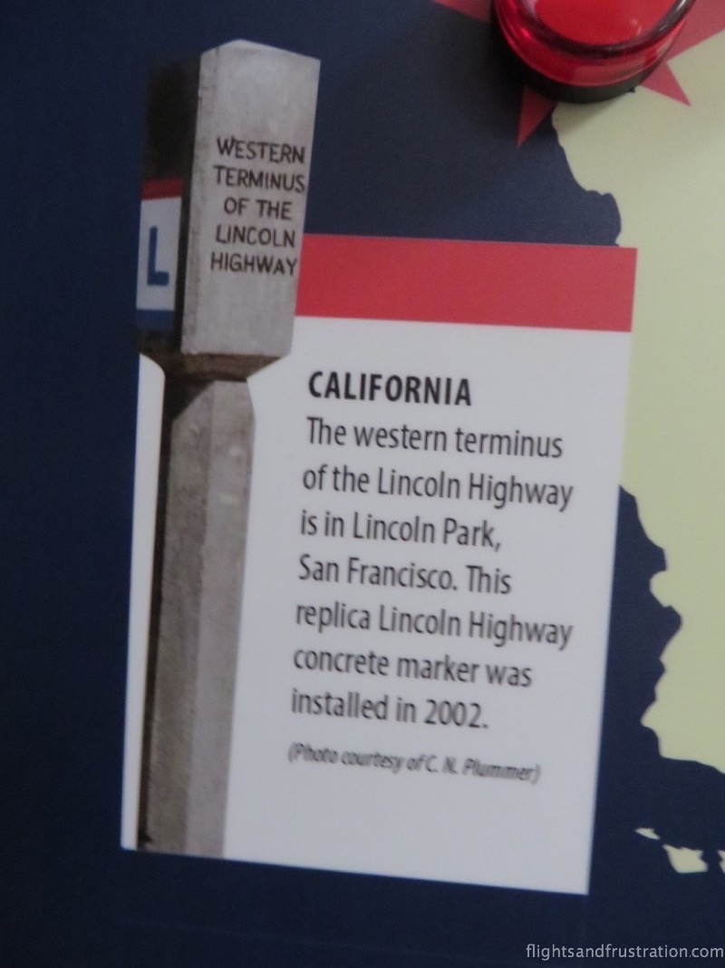The western terminus in San Francisco