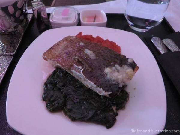 Salmon in Etihad Business Class