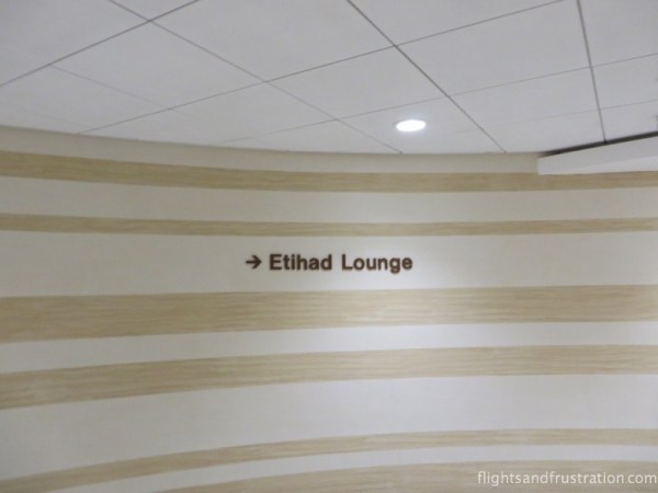 The Etihad Lounge Manchester airport terminal 1 is this way