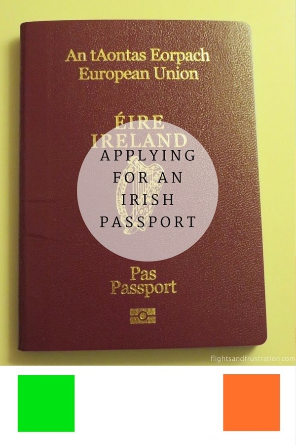 Applying for an Irish passport for Pinterest