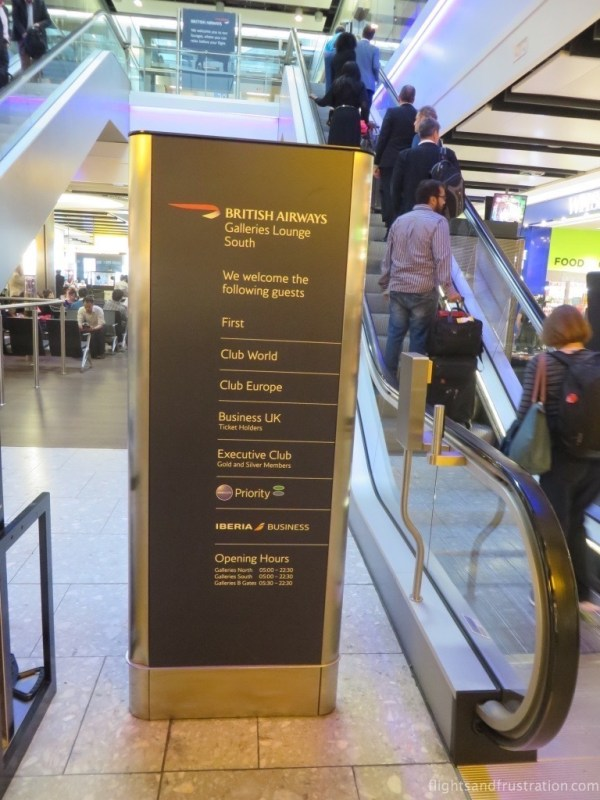 Passengers welcomed into the BA Heathrow Terminal 5 lounges