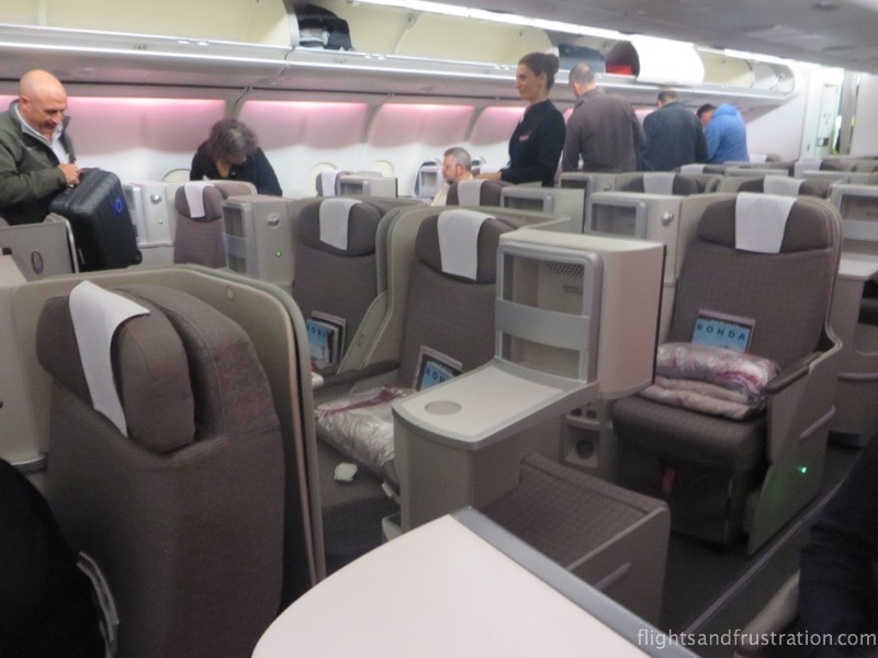 Iberia Business Class seats