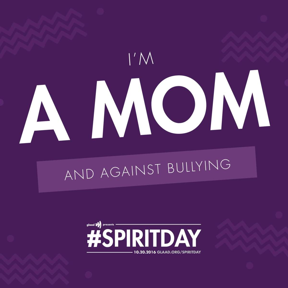 Purple it up!  It's Anti-Bullying Day. #SpiritDay