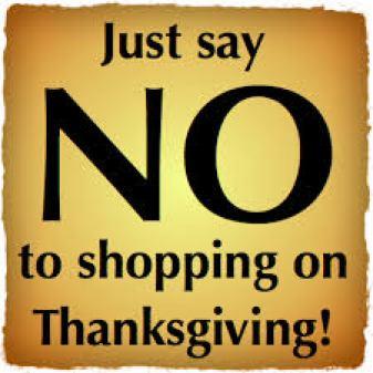 justsaynotothanksgivingdayshopping
