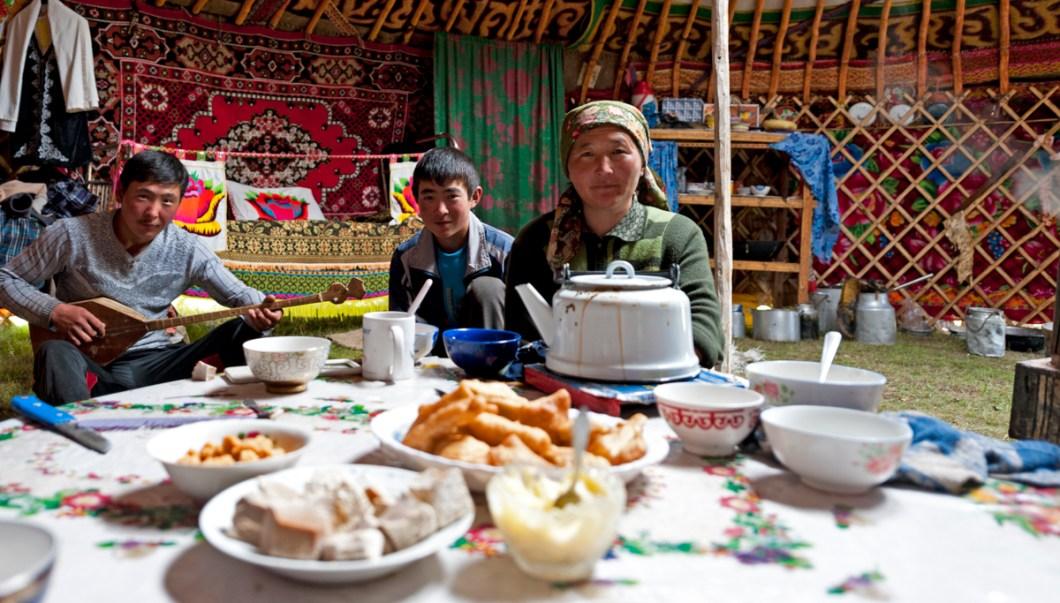 Inside Kazak Ger