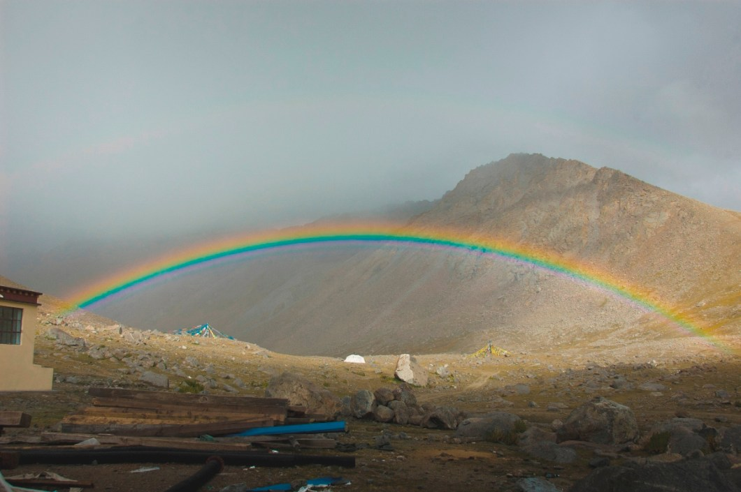 the amazing rainbow at Darchhen at a touching distance