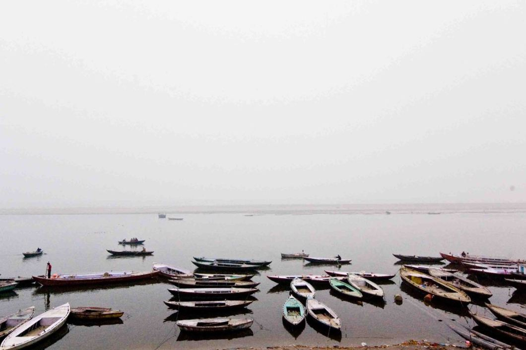 2. a calm Ganges early in the morning