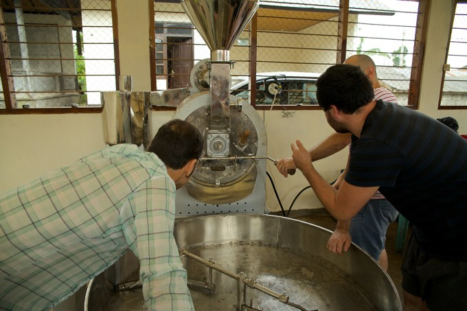 It is important to pay attention during roasting, particularly when working with new equipment.