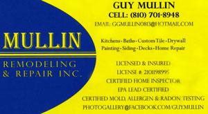 Guy Mullin Maintenance
