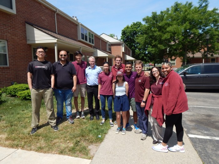 Select members from both UMass Amherst and Virginia Tech during a sampling trip in late-May