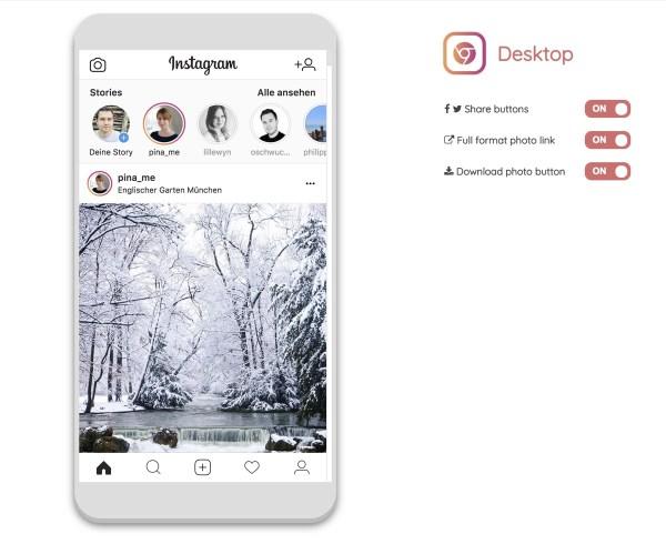 Desktop Instagram Chrome