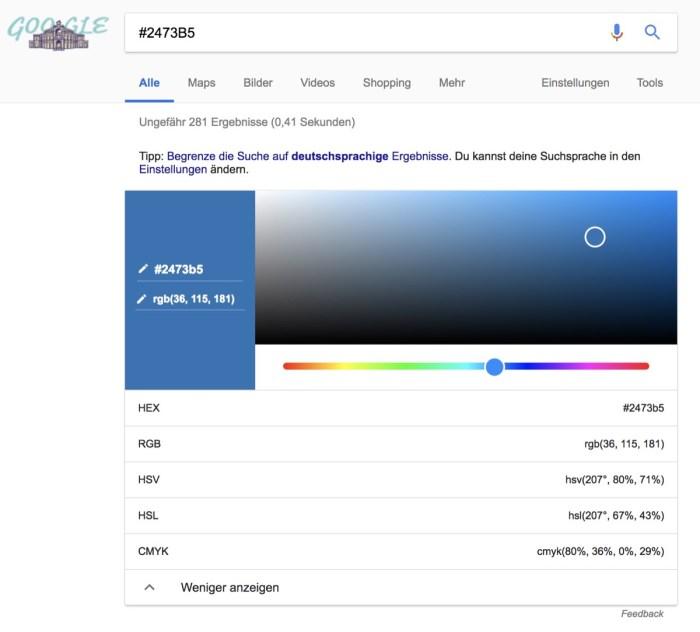 Hex Google Suche